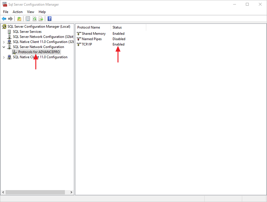 Allowing external connection through SQL Server 2012 Express
