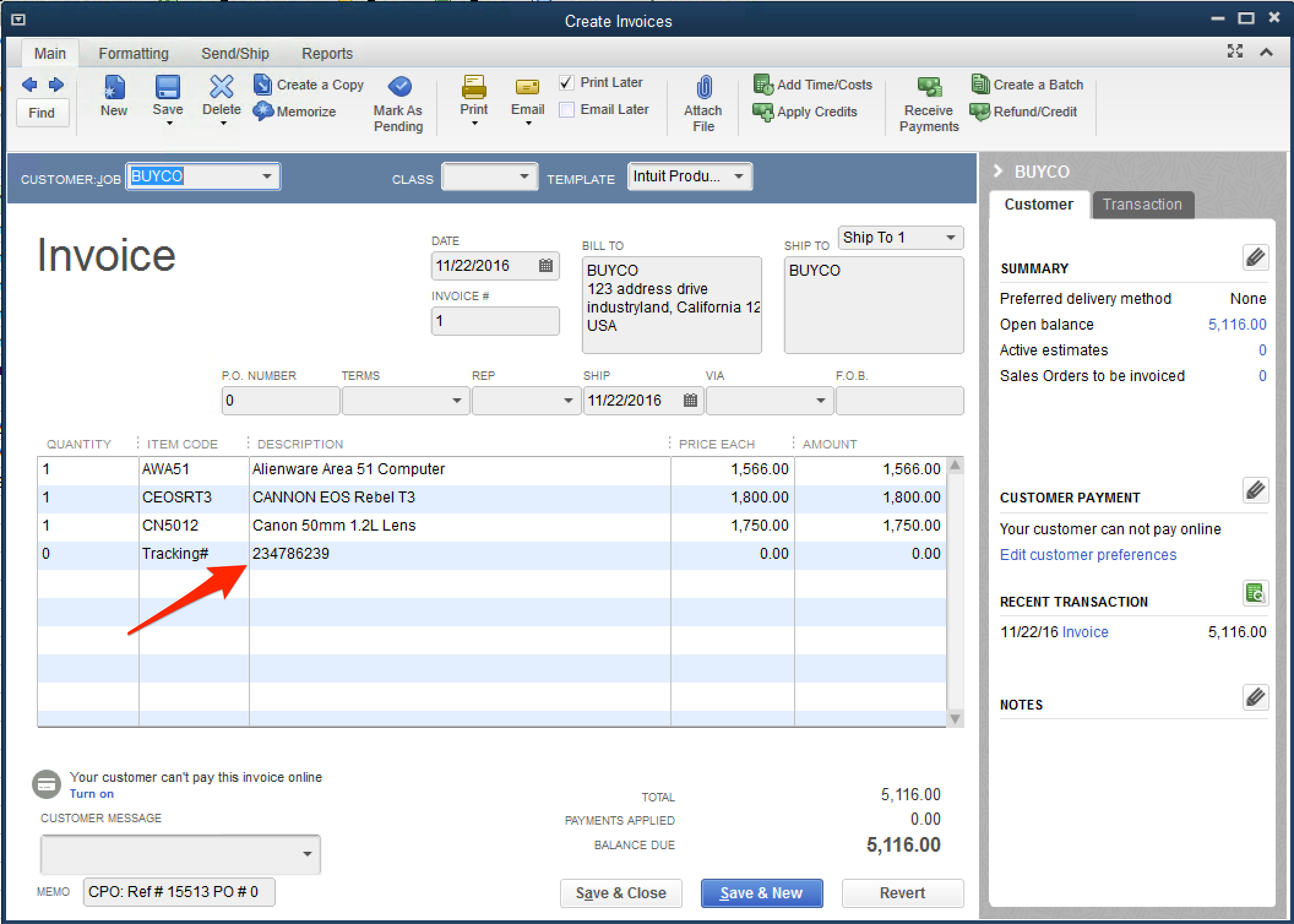 How To Enable Tracking Number Export To QuickBooks - Quickbooks invoice number