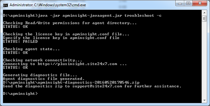 What does Java agent troubleshooting operation do and what