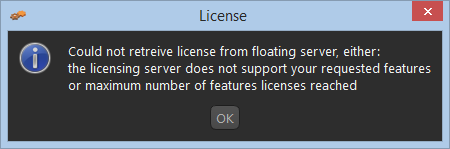 Possibility why the floating license does not work?